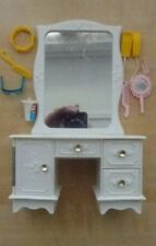 BARBIE DOLL DRESSER AND ACCESSORIES LOT