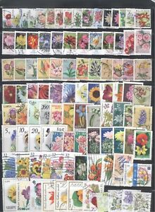 FLOWERS - Nice Collection of 100 Different Stamps.