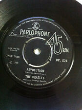 "THE BEATLES hey juDe/revolution BLACK PARLOPHONE RARE SINGLE 7"" 45 INDIA VG++"
