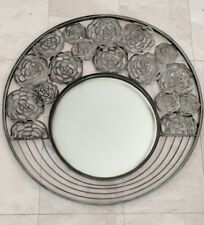 Round gun metal floral cutout abstract mirror wall art RRP$229.95