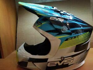 EVS T5 Helmet M 58-59 cm Motocross, Off-road, ATV, MTB, UNISEX  Blue/Hi-Viz Yell