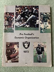 Oakland Raiders vs San Diego Chargers NFL Football Game Program 1973