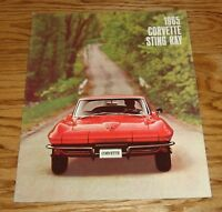1965 Chevrolet Corvette Sting Ray Sales Brochure 65 Chevy