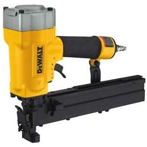 DeWALT DW451S2 16 Gauge Pneumatic Wide Crown Tool Free Lathing Stapler