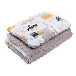 BABY BLANKET PLUS FLAT PILLOW COT BEDDING SET BED CRIB PRAM MOSES BASKET BOYS