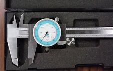 """6"""" PRECISION STAINLESS STEEL  DIAL CALIPER fractional/decimal display #102-FC"""