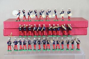 DORSET SOLDIERS FRENCH FOREIGN LEGION SET of 35 soldiers MARCHING BAND 1936 nu