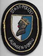 Polizei BAYERN Stadtpolizei  LAUINGEN   Abzeichen handgestickt Patch StaPo 60er