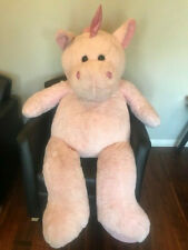 "Kellytoy Huge Jumbo Pink Plush Unicorn Stuffed Animal 60"" Huggable Floppy Giant"