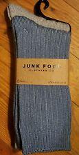 NEW ! 2 pair Mens Junk Food  Crew Socks size 10 - 13