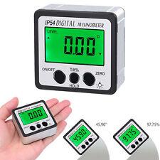 Level Box Protractor Digital Inclinometer 360° Angle Finder Bevel Magnet Gauge