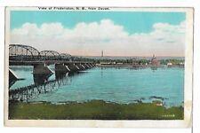 (0555) 1927 P/C FREDERICTON, NB VIEW FROM DEVON  RPO CANCEL