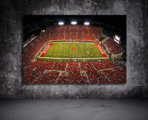 Utah Utes - Utah Football Stadium Ready to Hang Art - 36 x 24