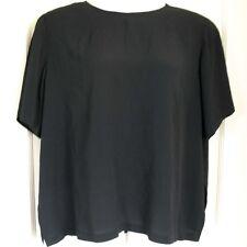 ELISABETH PETITES Top Shell Black Crinkle Rayon Blend Women's Petite Size 22P