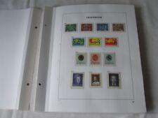 LIECHTENSTEIN 1969-90 FINE USED COLLECTION ON DAVO HINGELESS STAMP ALBUM PAGES