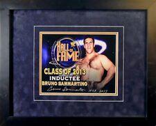 Bruno Sammartino Signed/Framed HOF 2013 Commemorative 8 x 10 w/JSA