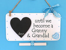 Baby Countdown Plaque Sign Granny & Grandad