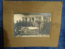 Post Mortem woman open coffin casket vintage real photo 1931 #