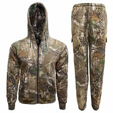 Children's Forest Camouflage Tracksuit Hoodie Jogger Realtree Camo Set 2-14 Yrs