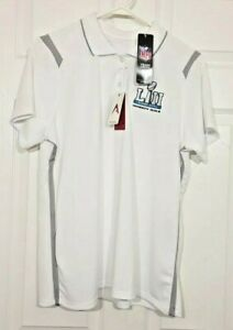 Women's Antigua Short Sleeve Size XL Polo NFL Super Bowl LII Minnesota White NWT