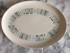 "Taylor Smith Taylor Colorcraft Large Oval Platter Plate ~Jamaica Bay ~13.5"" x 9"