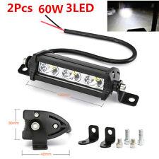 2Pcs 60W Spot LED Light Work Bar Fog Driving Lamp Offroad Car SUV 4WD Boat Truck