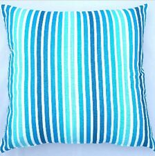 Handmade Shades of Aqua and White  Home Decor Cushion Cover 45x45 or 50x50
