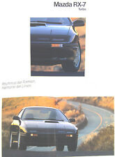 Mazda RX-7 Rotary Turbo circa 1990 Original Swiss Sales Brochure