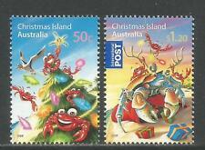 Christmas Island 2008 Christmas/Wildlife-Attrac tive Art Topical (473-74) Mnh