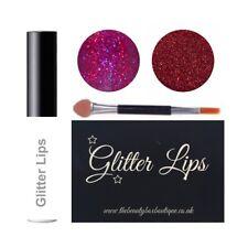 Glitter Lips Duo Sets - Waterproof Lip Adhesive Glitter Festival Lip Stick Gloss