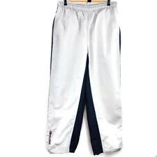 Hilfiger Athletics Mens Track Pants Size XL Grey Dark Blue Stripe Nylon