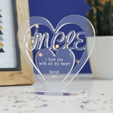 Personalised Heart Message Ornament Keepsake Uncle Father's Day Birthday Gift