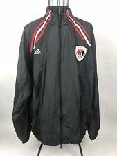 Adidas Track Suit Jacket Zipper Windbreaker Soccer Black Men's Large