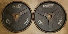 Cybex Vintage Pair of 35lb Olympic Barbell weight plates American made in USA