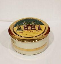 Art Of Cloisonne - Round Trinket Box - 24Kt Gold Edge - Japan