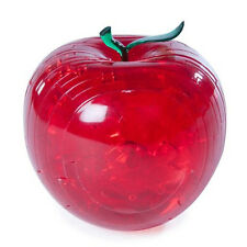 Red Apple 3d Crystal Puzzle Jigsaw Brain Teaser Unique Challenge Mind Game HY