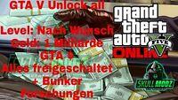 GTA5 Online Unlock all | bis zu 1 Milliarde GTA $ | Level nach Wunsch [PC]