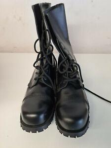 """""""PUNK"""" Springerstiefel Boots Leder/Gothic UNDERGROUND ORIGINAL Gr. 12 neu"""