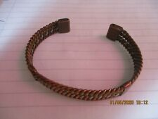 MAGNETIC Solid Copper 3 COLOUR ENTWINED with SIDE BARS Bracelet Arthritis