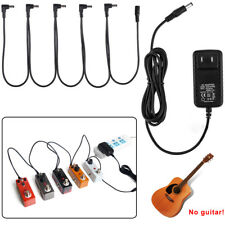 Top 9V Guitar Effect Pedal Power Supply Adapter 5 Way Daisy Chain Cable US Ship