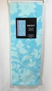 DKNY Beach Towel Shadow Floral Design 100% Cotton 36 x 68 in. Blue Pool Towel
