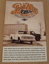 "VTG 1967 GMC ADVERTISING Brochure~""LOOK-ALIKE CHEVY TRUCKS""~Chevrolet~"