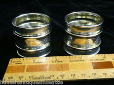 Pair of American Coin Silver Napkin Rings - Monogrammed S