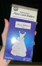Wilton Wedding Dress Place Card Holders 6 Pack - NEW - Wedding or Bridal Shower