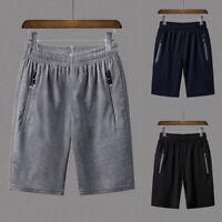 Men's Summer Breathable Pocket Shorts Mens Gym Sports Quick Dry Short Pants 32