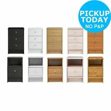Beech Bedside Tables & Cabinets with 3 Drawers