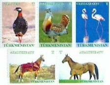 Turkmenistan 2016, Definitives, Fauna, Birds, Horses, 5v