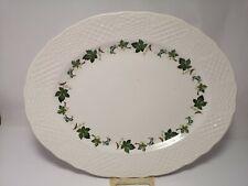 Early mid-century Maroon florals filigree charger 1940s SOHO SIM41 pattern dinner plate Simpsons Ambassador Ware ironstone.