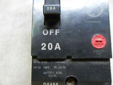 (G1-13) 1 General Electric Teymo-220 20A 2 Pole Circuit Breaker