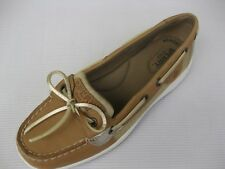 Sperry Topsider Womens Shoes NEW $90 Angelfish Tan Linen Platinum 6.5 M